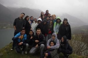 JCU students at Lake Turano